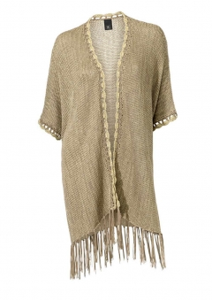 Strickponcho, taupe-gold von H**** - Best Connections