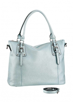 Shopper, blau-metallic von Laura Scott