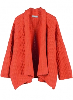 Cardigan, orange von Stefanel