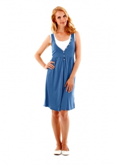 Two-in-One-Kleid, blau-weiß von Cheer