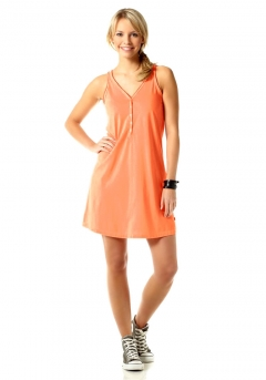 Kleid, orange von Flashlights