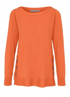 Pullover, orange von Ashley Brooke