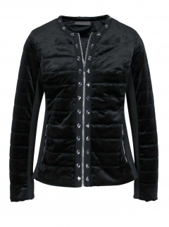 Samt-Steppjacke m. Strass, schwarz von Ashley Brooke
