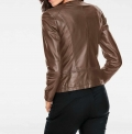 Lammnappalederjacke, taupe von Ashley Brooke