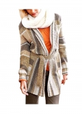 Longstrickjacke, braun-natur von Cheer