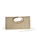 Clutch m. Strass, goldfarben von Laura Scott