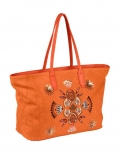 Shopper m. Pailletten, orange von H****